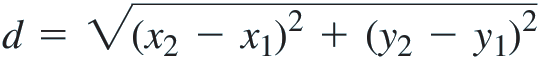 distance equation